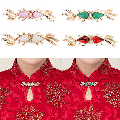 4 Pairs Fashion Decorative Goldfish Cape Cloak Clasp Fasteners Cardigan Clips