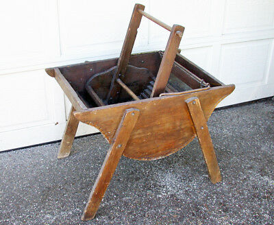 Antique Wooden Rocker Washing Machine