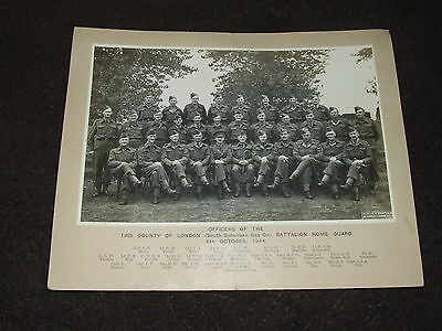 Original 1944 Photo of Officer's of the 19th County of London Bn Home Guard