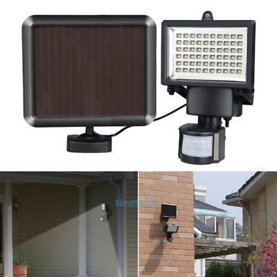 60 LED Solar Powered Garden Outdoor PIR Motion Sensor Light Security Flood Lamp