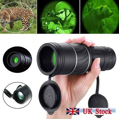 Portable 40X60 Day & Night Vision Dual Focus HD Optics Zoom Monocular Telescope