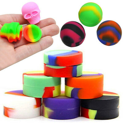 3ml Nonstick Silicone Oil Concentrate Container Jar Vial Screw Skull Jars