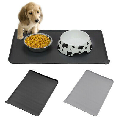 Silicone Pet Feeding Mat Non Slip Pet Food Placemat for Dog Cat Bowls 47x30cm UK