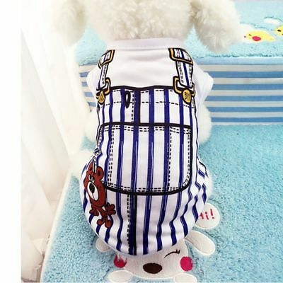 Cute Pet Clothes Dog Puppy Cotton Sport Vest T-Shirt Doggy Costume Outfit