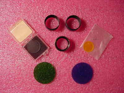 Various Microscope Accessories Reticles Micrometer Disc Filters Eyepiece Boot