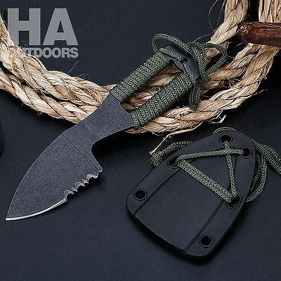 Pocket Straight Knife Hunting Hiking Camping Survival Fishing Outdoor Tactical