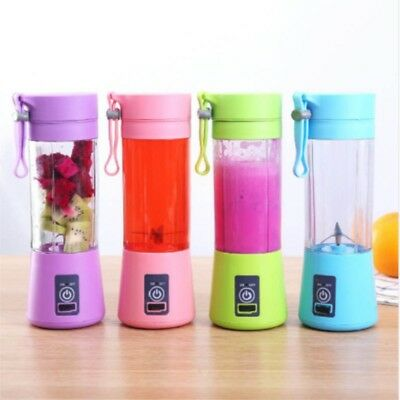 380ml Mini USB Rechargeable Portable Fruit Juicer Smoothie Maker Blender Machine