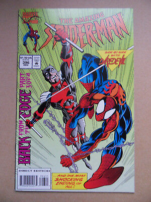 Amazing Spider-Man 396 . Daredevil & The Owl App . Marvel 1994 . VF - minus