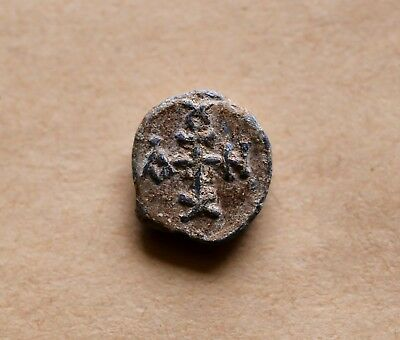 BYZANTINE LEAD SEAL/ BLEISIEGEL OF ANTIOCHUS OFFICER (6th cent.).Excellelent!