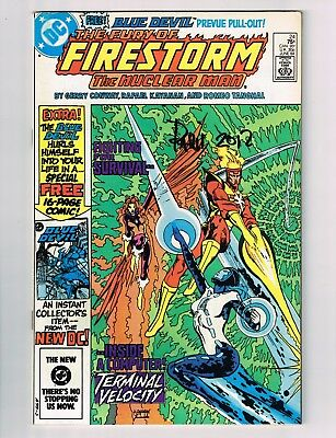 The Fury of Firestorm #24 SIGNED BY PARIS CULLINS FIRST APPEARANCE OF BLUE DEVIL