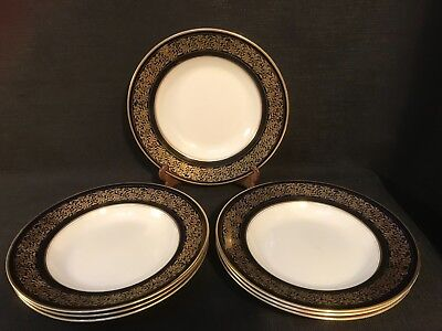 Antique Solian Ware Soho Pottery Soup Or Pasta Bowls x 7, Pattern No.4692