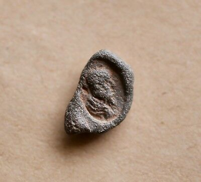 ROMAN LEAD CONICAL SEAL OF A PHILOSOPHER (?) (2nd/3rd cent.). VERY NICE PIECE!