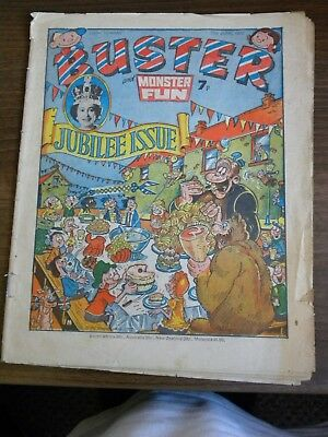 Buster (& Monster Fun) Comic 1977 - Queen Elizabeth Ii Silver Jubilee Issue