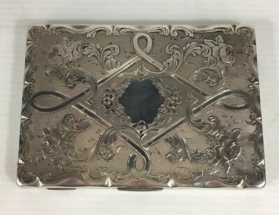 Fine Quality Antique Frederick Marson 1861 Cased Solid Silver Card Case
