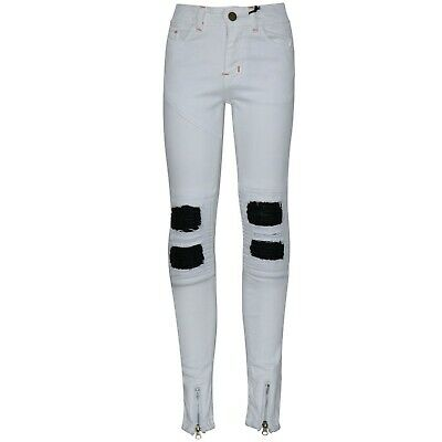Kids Boys White Stretchy Designer's Jeans Ripped Denim Skinny Pants Trousers