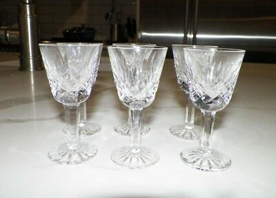 Waterford Crystal Lismore Cordial Liquor Glasses Set Of Six (6)