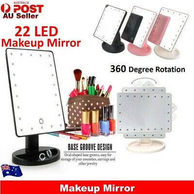 22 LED Touch Screen Makeup Mirror Tabletop Cosmetic Vanity light up Mirror