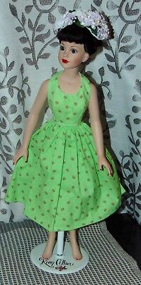 KITTY COLLIER Outfit Only TENNESSEE SISTERS Green Flower Halter Dress OOAK