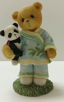 """Cherished Teddies 1996 Lian China #202347 """"Our Friendship Spans Many Miles"""""""