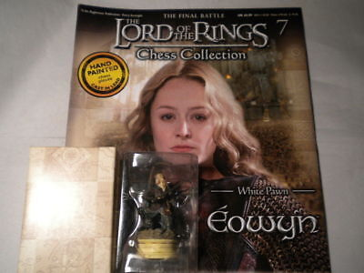 EOWYN LORD of the RINGS CHESS Piece FIGURE in BOX & MAGAZINE #7 Eaglemoss UK