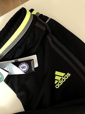 df841a7c6325 adidas Mens Gents Chelsea Pre Match Tracksuit Traning Pants Bottoms Small  Black