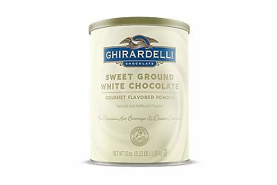 Damaged Ghirardelli Chocolate Sweet Ground White Chocolate Beverage Mix 50 oz