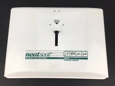 New Sanitor Neat Seat Disposable Toilet Seat Cover Dispenser Metal Tin USA Made