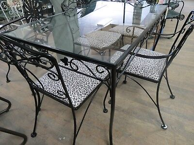 Salterini Wrought Iron Patio Dining Set