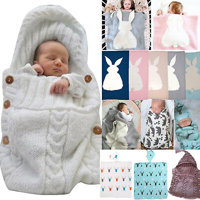 Muslin Baby Swaddling Blanket Newborn Infant Sleeping Bag Swaddle Towel Soft US