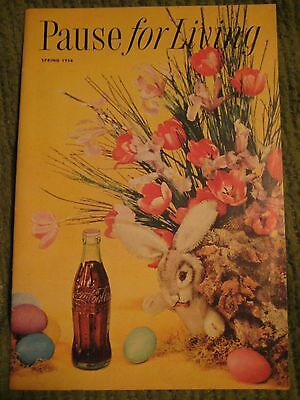 Original Vintage 1956 COCA COLA Pause for Living Pamphlet 24 pgs