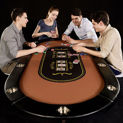 10-Player Poker Table Home Game Tournament Compact Foldable Casino Barrington