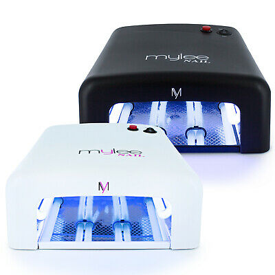 MYLEE 36W UV Lamp Gel Polish Curing Nail Art Dryer Manicure w/ Timer & 4 Bulbs