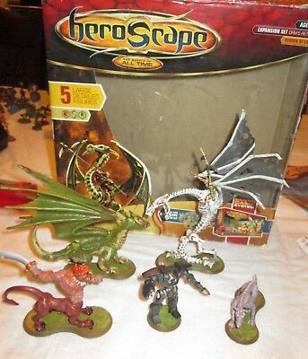 Heroscape Orm's Return Heroes of Laur Expansion Set 5 Large Figures IN BOX 99%