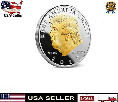 Donald Trump 2020 Challenge Coin Keep America Great 40MM Free shipping