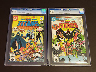 New Teen Titans #1, #2 CGC 9.6 🗝 White pages 1980 DC Comics 1st App DEATHSTROKE