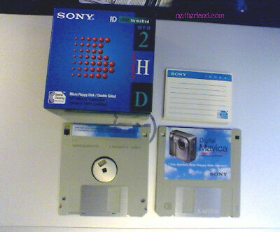 20 Sony IBM formatted 2HD Micro Floppy Disks 3.5 inch 2x 10 packs