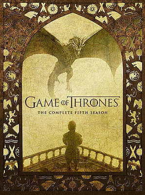 Game of Thrones:5 The Complete Fifth Season 5 (DVD) New, Free 1st Class Shipping