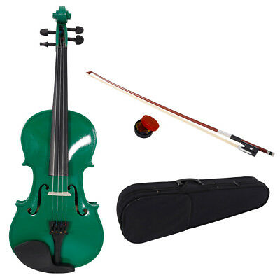 Hot Full Size 4/4 Violin Handed Natural Acoustic Fiddle with Case Bow Rosin USA