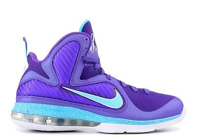 ad8a41938a7 NIKE LEBRON 9 Summit Lake Hornets PURPLE TURQUOISE WHITE Size 10.5 (469764- 500)