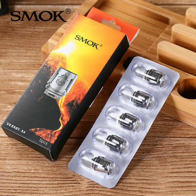 100% Genuine New AB Coded Smok TFV8 Baby Beast/Alien Coils T8, T6, X4, Q2, M2