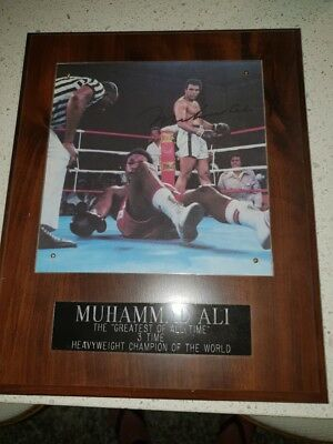 Muhammad Ali Signed Plaque - Limited Edition Signature Series 1720/5000
