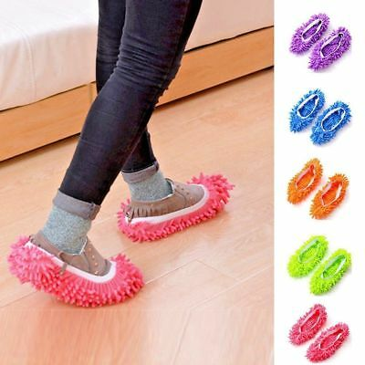 Microfiber Duster Shoe Sock Slippers Mop Dust Remover Cleaning Floor Polishers.