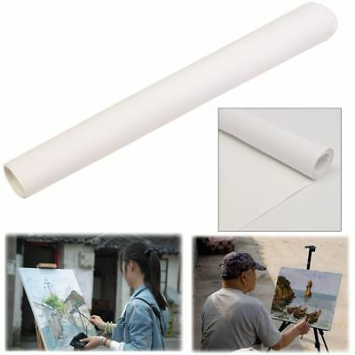 White Blank Canvas Paper Fabric Roll Cotton Watercolors Acrylic Oil Art Painting