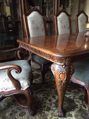 Henredon Alfresco Dining Table Chairs Marble Top Buffet & Mirror French Country
