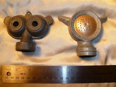 "Vintage Sun Mate ""Owl Eyes"" Lawn Sprinkler Head~Cast Aluminum AND Thompson 25'"