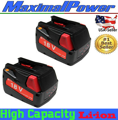Battery for Milwaukee Replacement Power Tool  V18 18V-volt 48-11-1830  PACK of 2