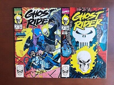 Ghost Rider #5 6 (1990) 9.2 NM Marvel Key Issue Comic Book Lot The Punisher
