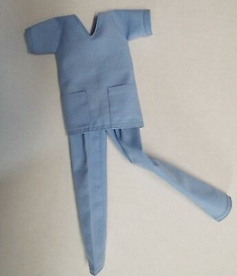 1:6th scale action figure Playscale Barbie doll Hospital Doctors scrubs set