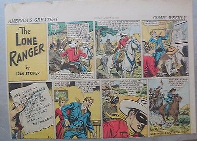 Lone Ranger Sunday Page by Fran Striker and Charles Flanders from 8/13/1939
