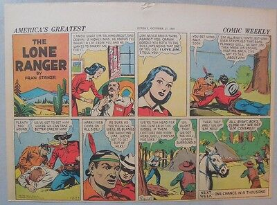 Lone Ranger Sunday Page by Fran Striker and Charles Flanders from 10/27/1940